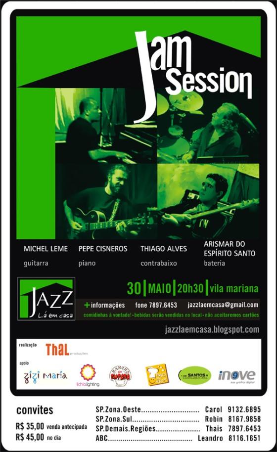 Convite Jazz Lá em Casa